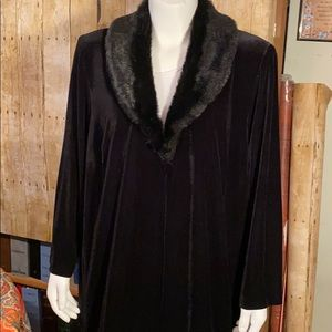 NWTs Alex Evenings Long Velvet Dress Jacket